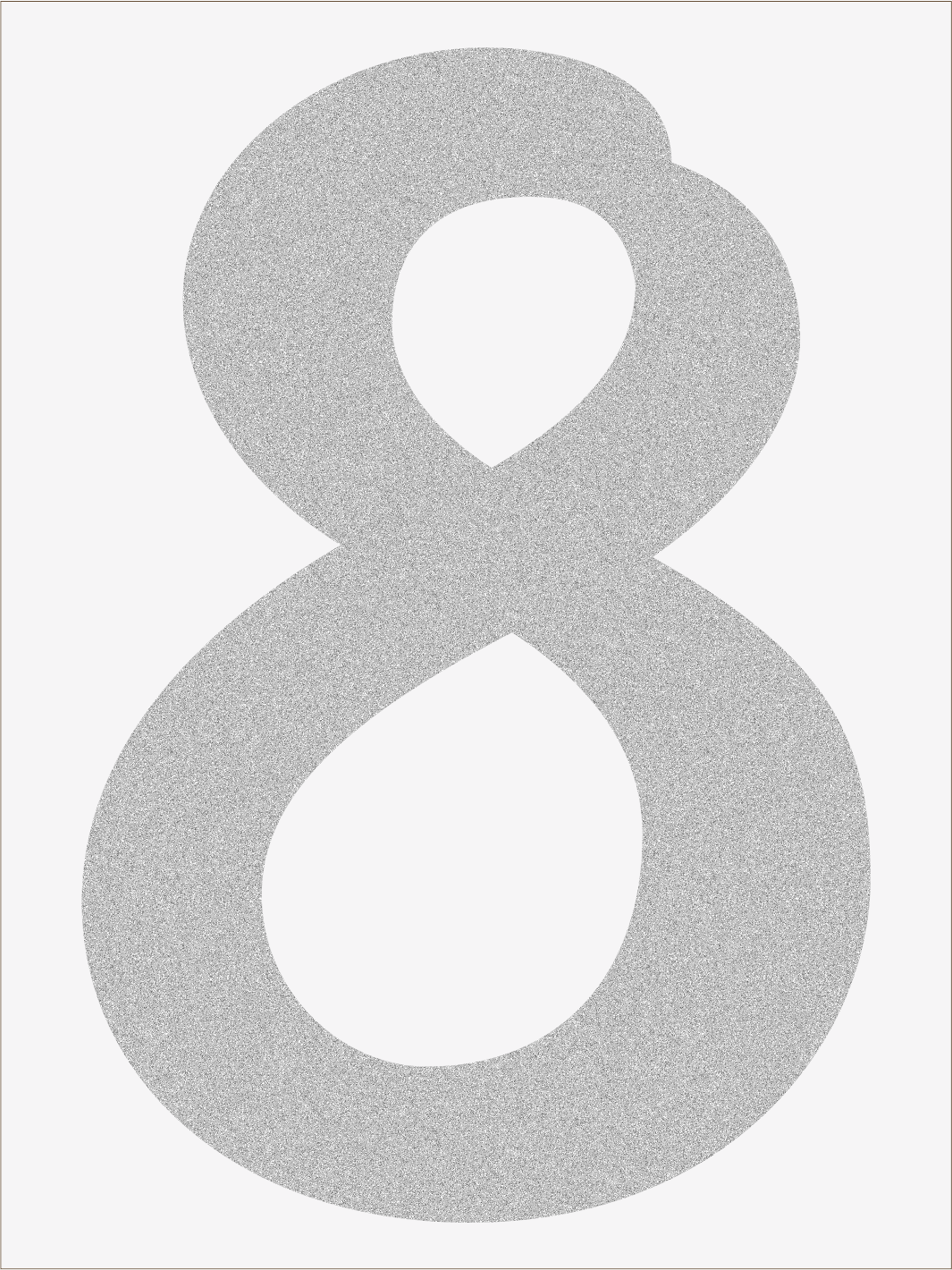 Číslica 8 font1
