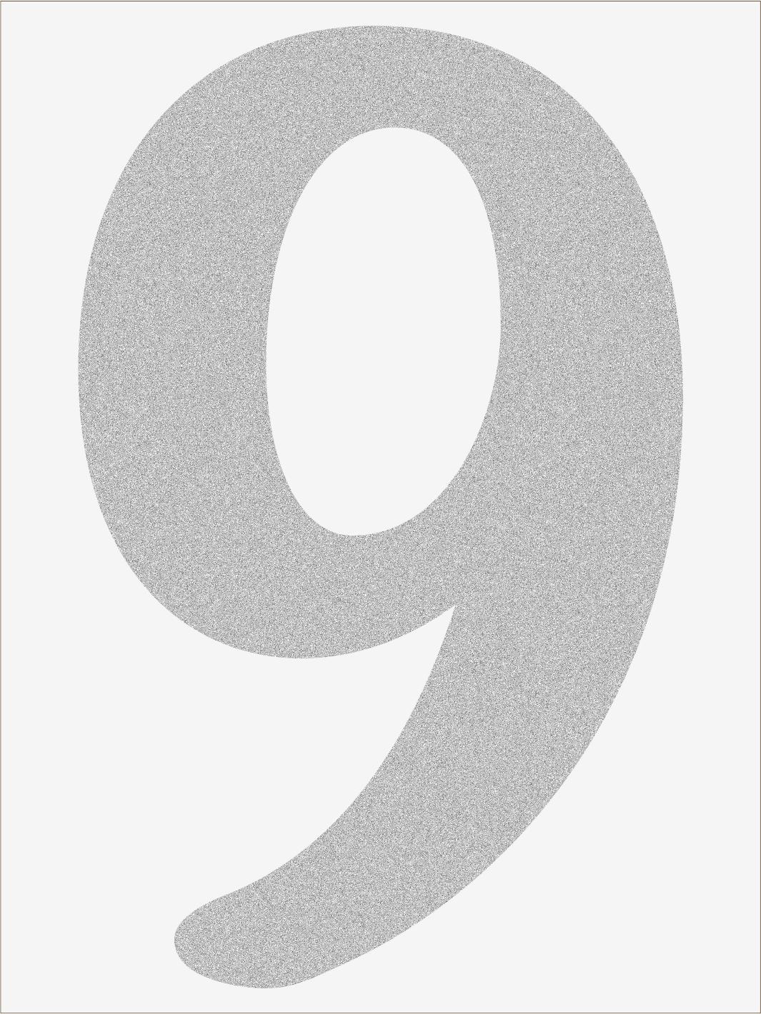 Číslica 9 font1