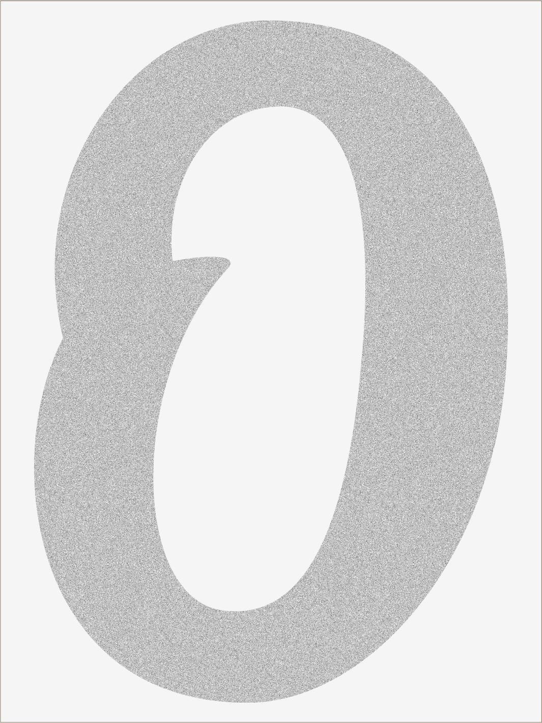 Číslica 0 font1