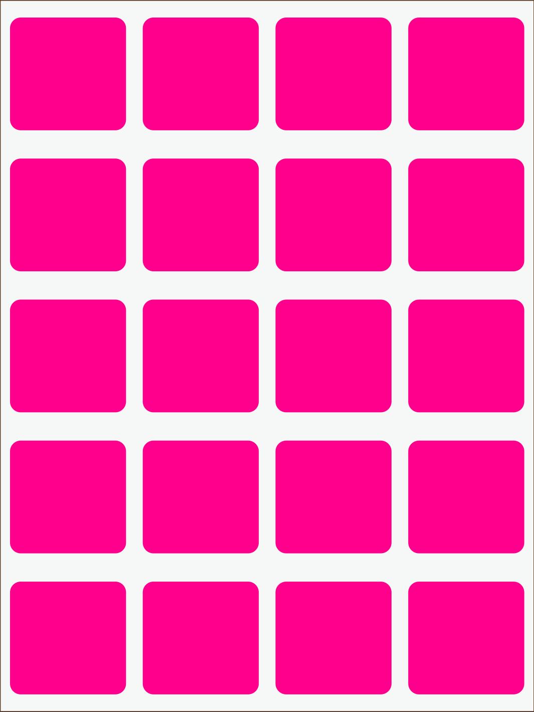 ružový neon nažehľovačky Štvorce