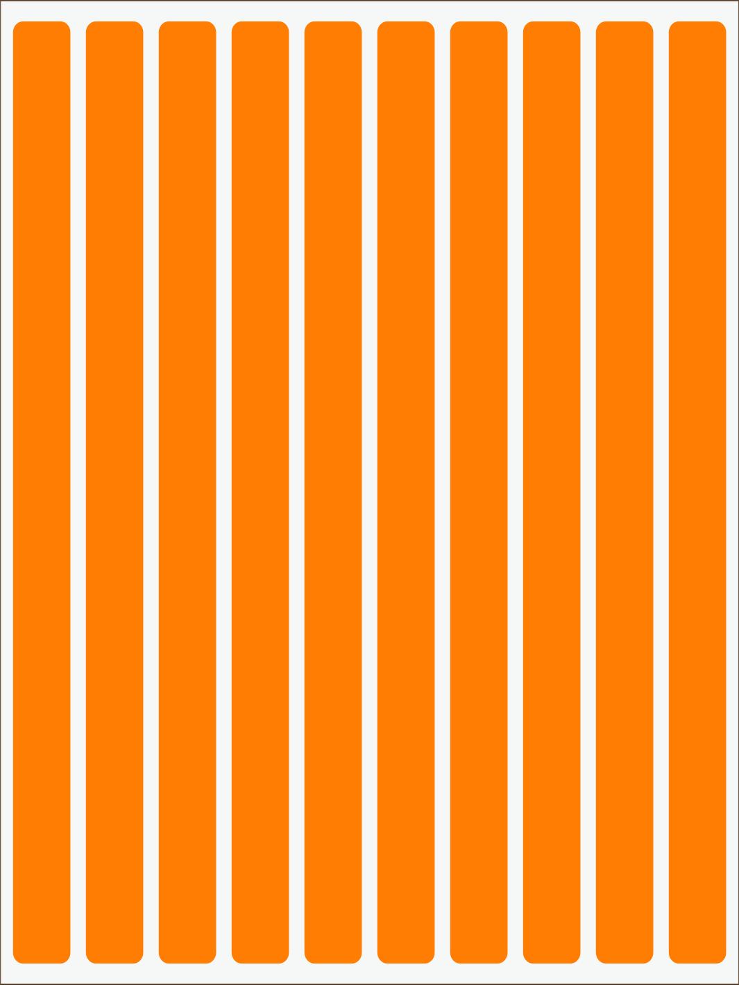 oranžový neon nažehľovačky Pásiky