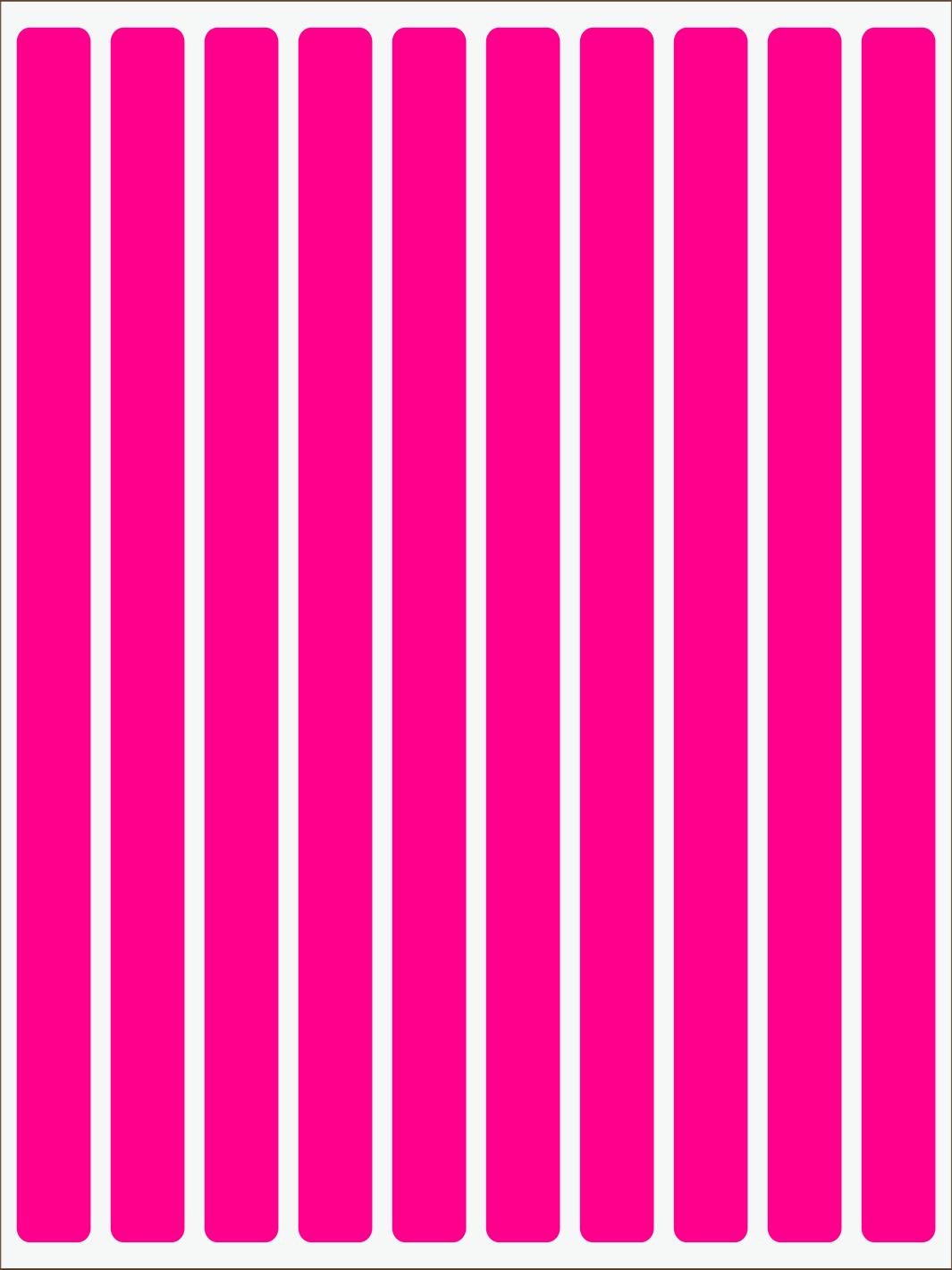 ružový neon nažehľovačky Pásiky