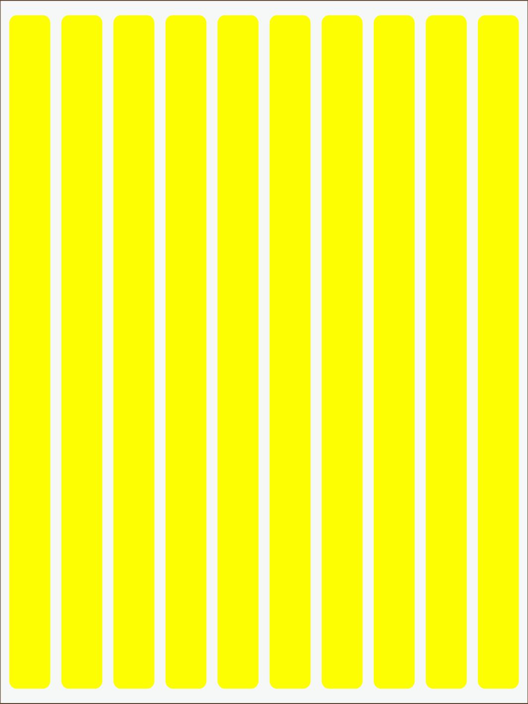 žltý  neon nažehľovačky Pásiky