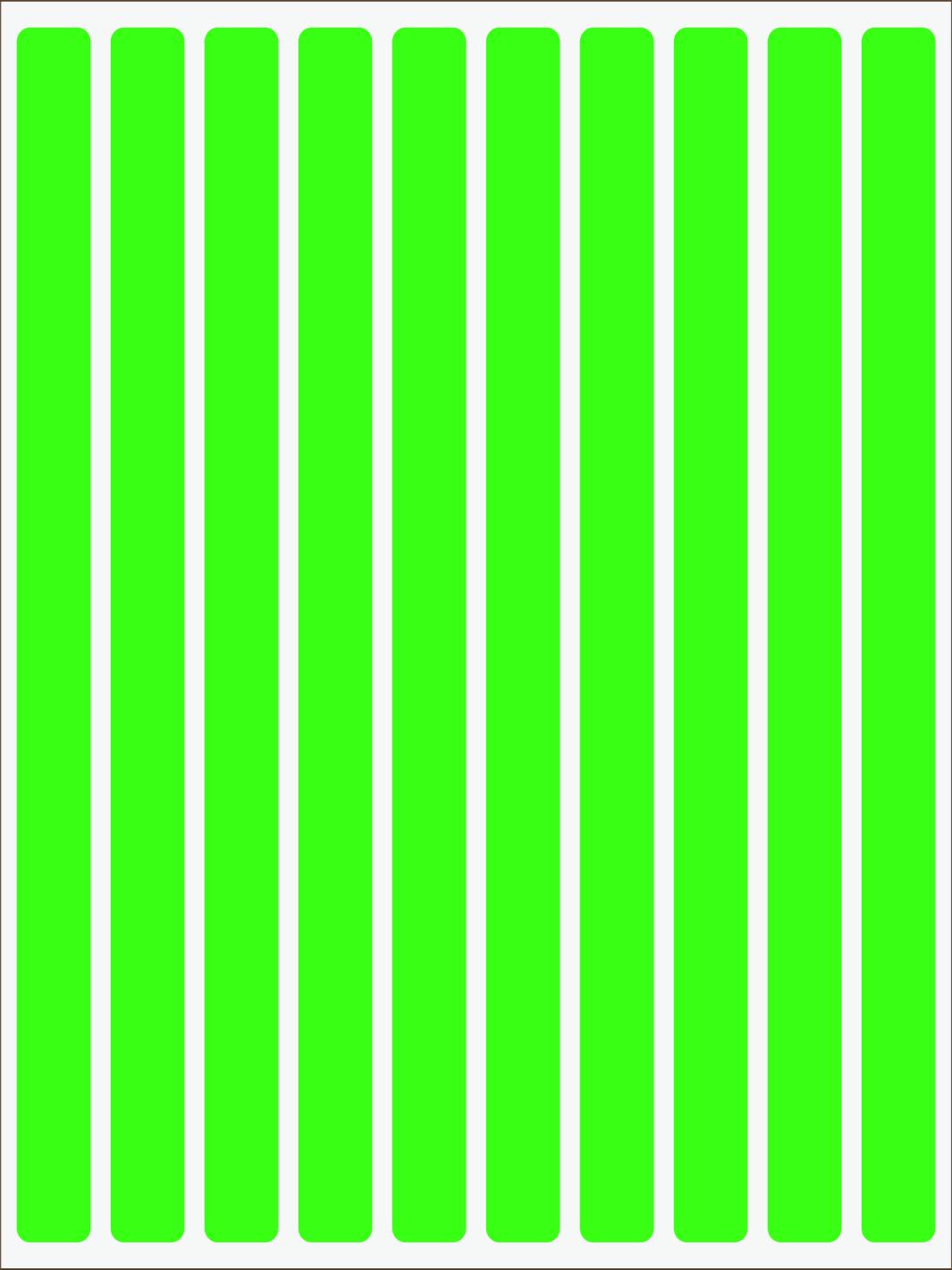 zelený neon nažehľovačky Pásiky