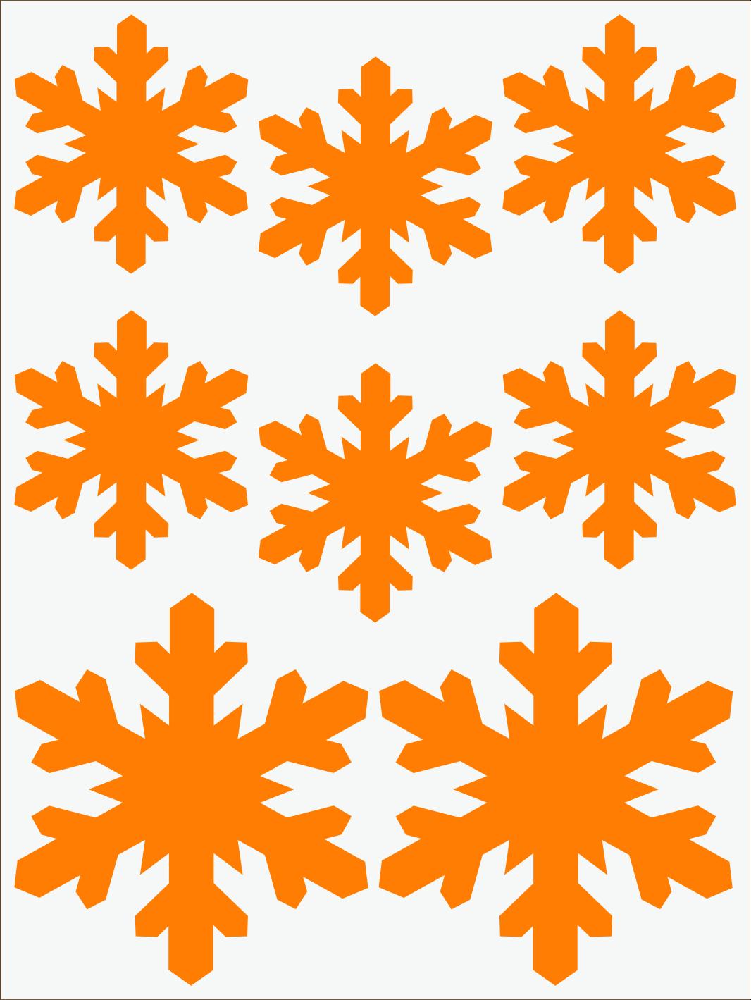 oranžový neon nažehľovačky Vločky 3