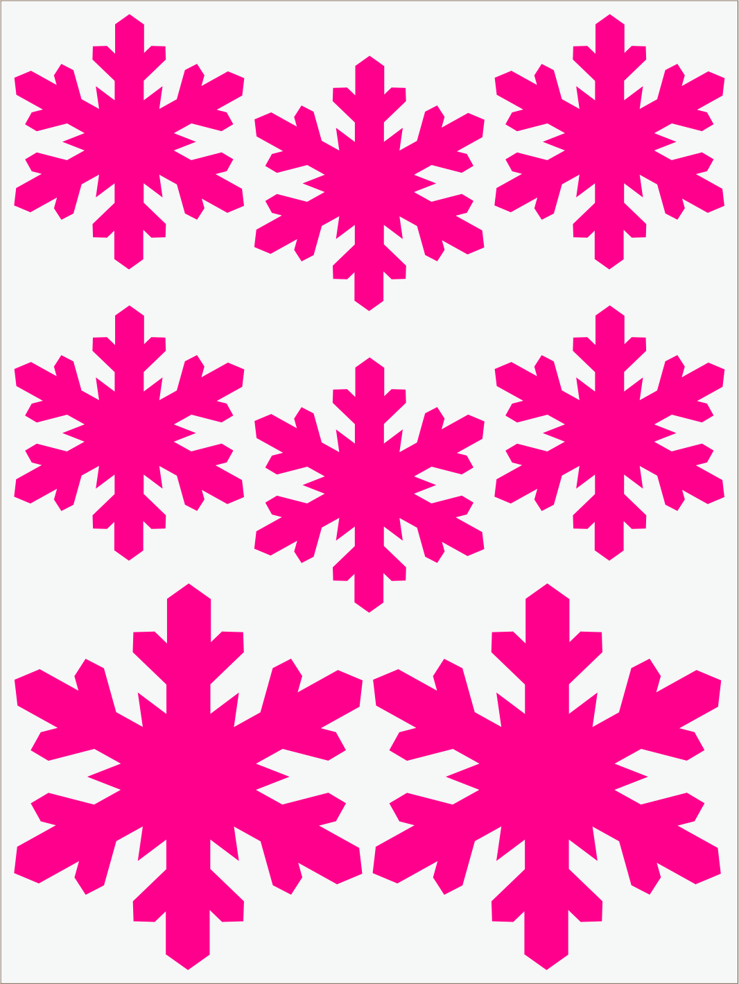 ružový neon nažehľovačky Vločky 3