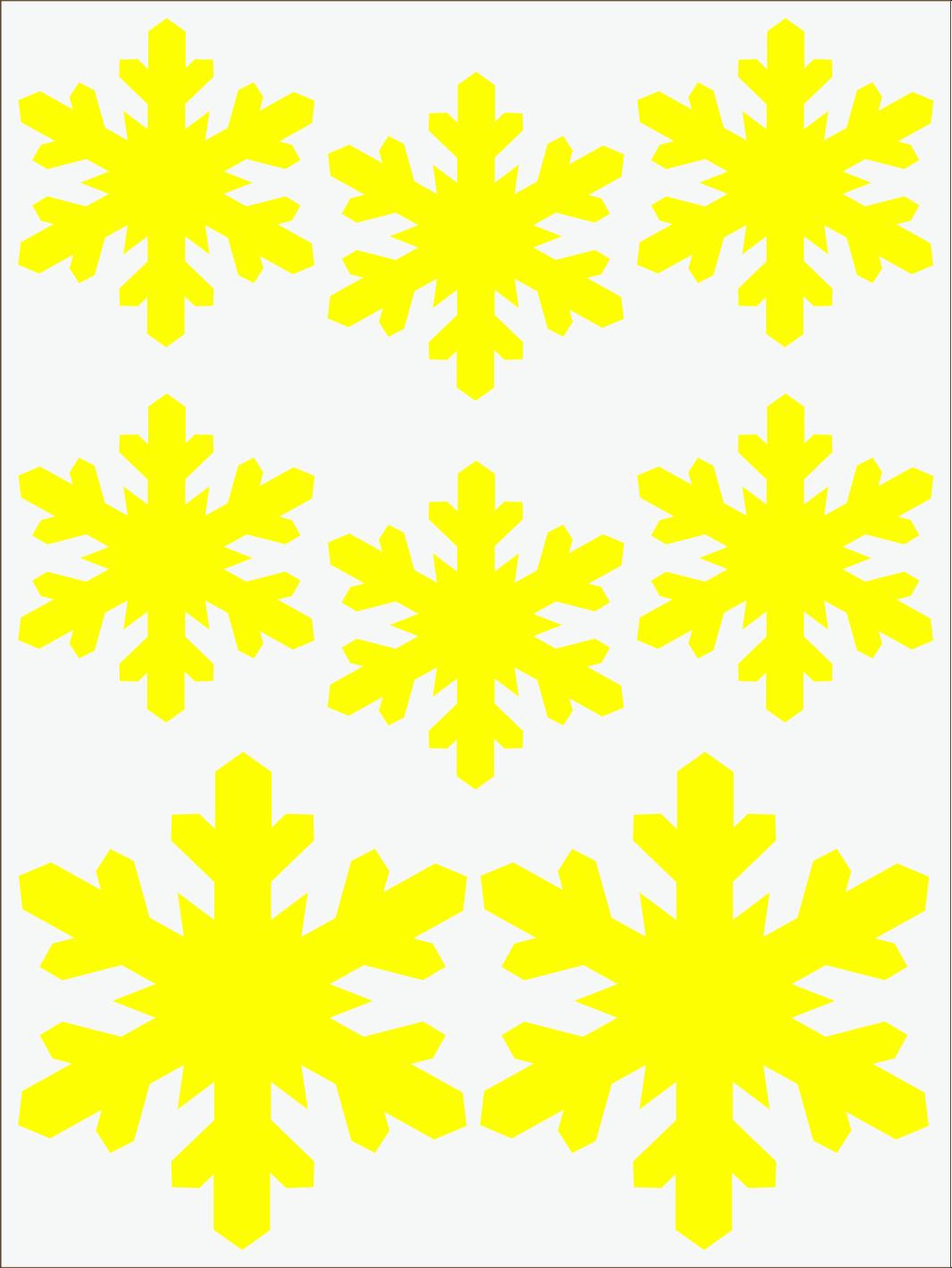 žltý  neon nažehľovačky Vločky 3