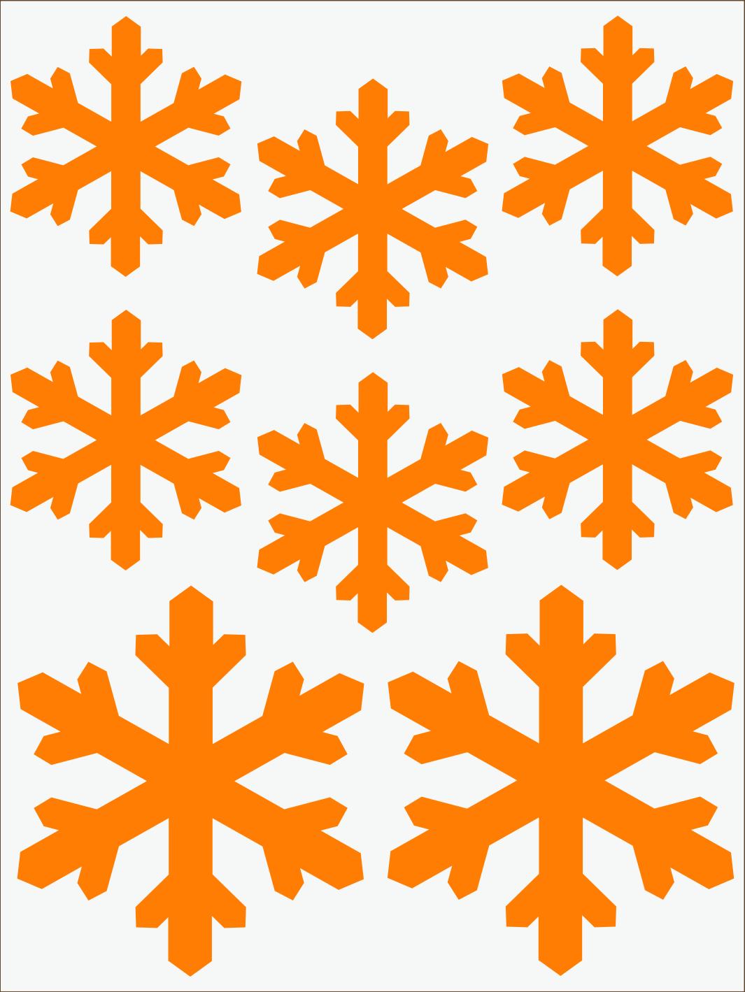 oranžový neon nažehľovačky Vločky 2
