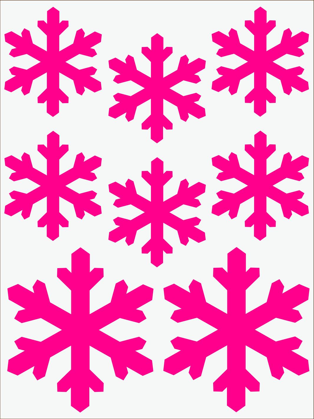ružový neon nažehľovačky Vločky 2