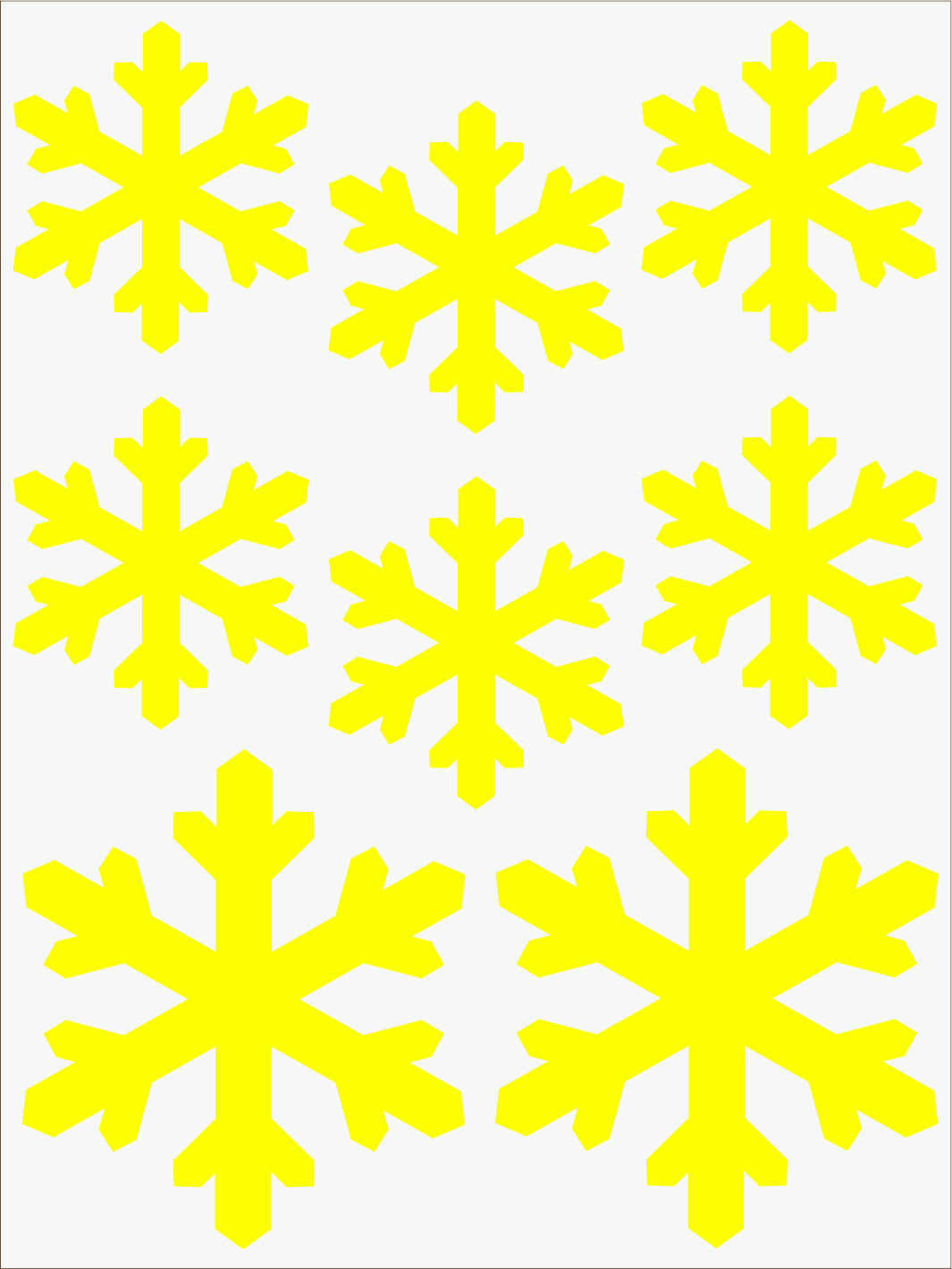 žltý  neon nažehľovačky Vločky 2