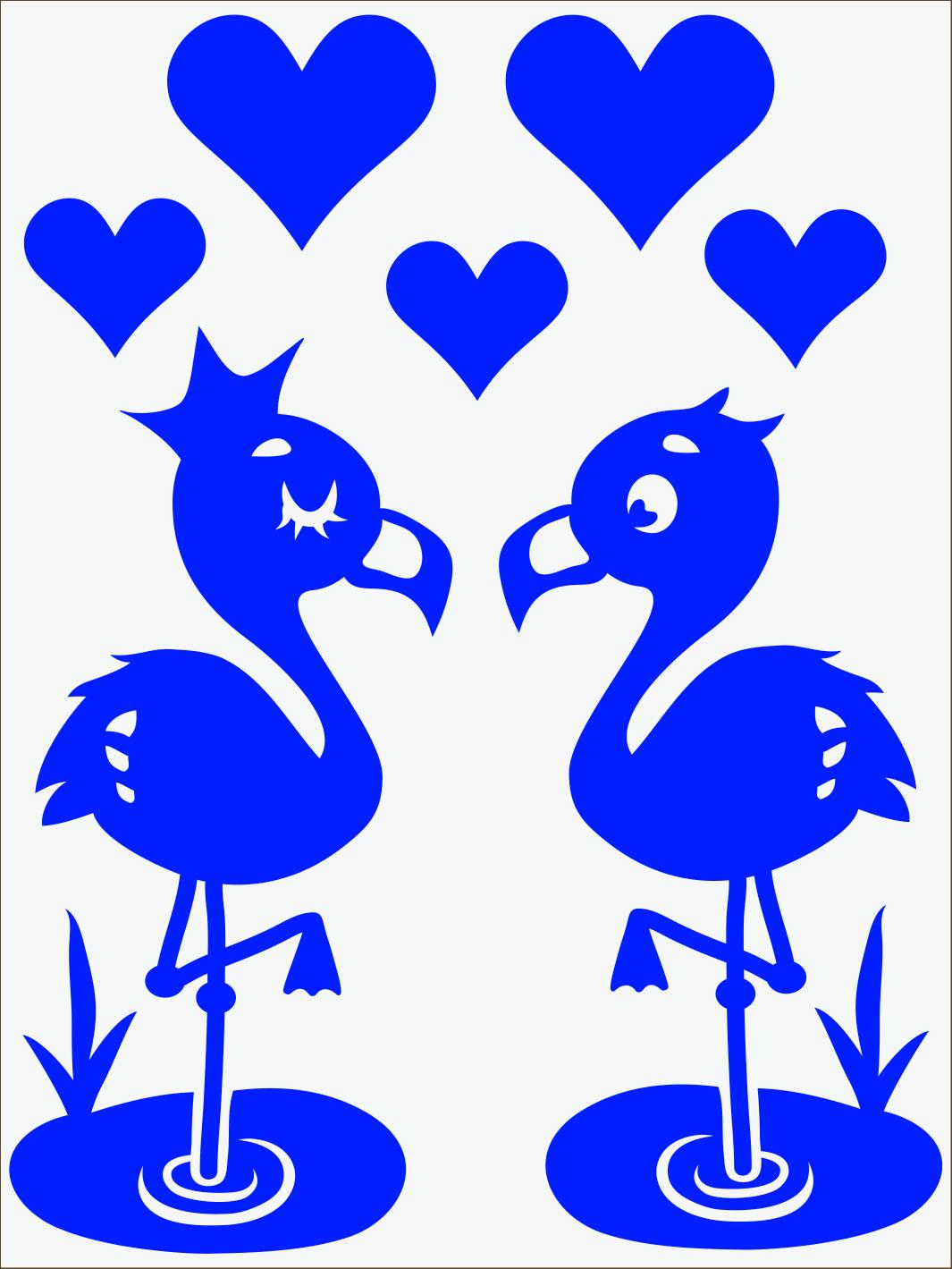 modrý neon nažehľovačky Flamingo