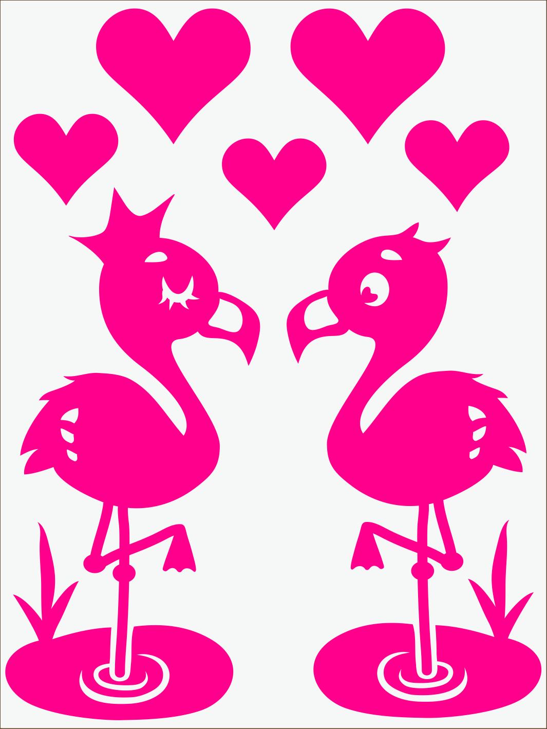 ružový neon nažehľovačky Flamingo