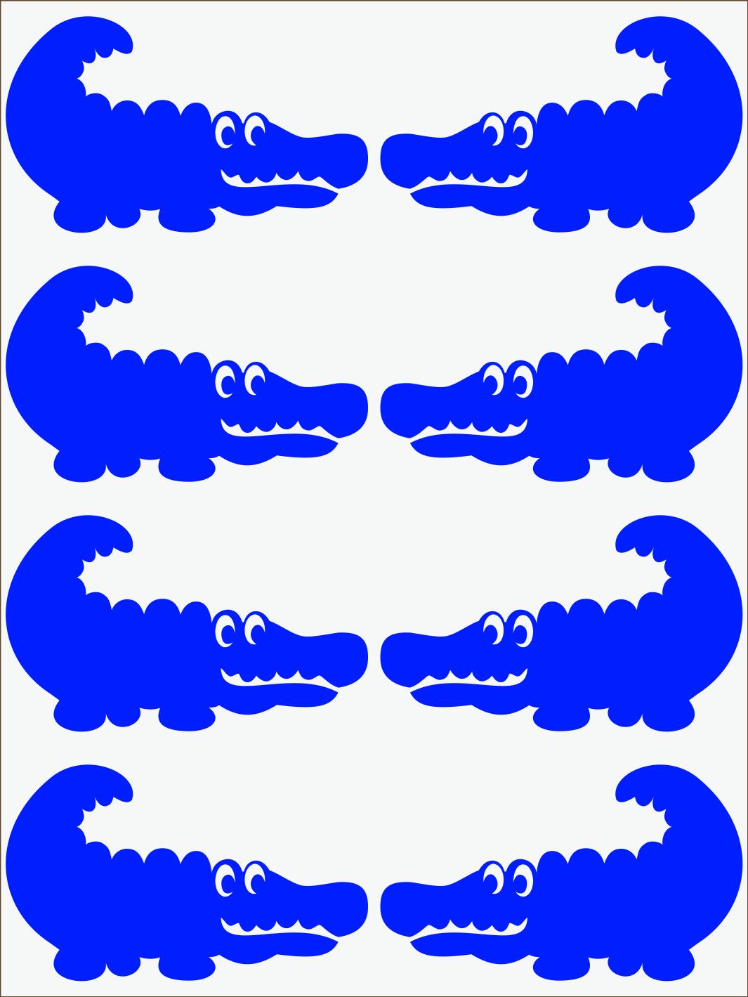 modrý neon nažehľovačky Krokodíl 2