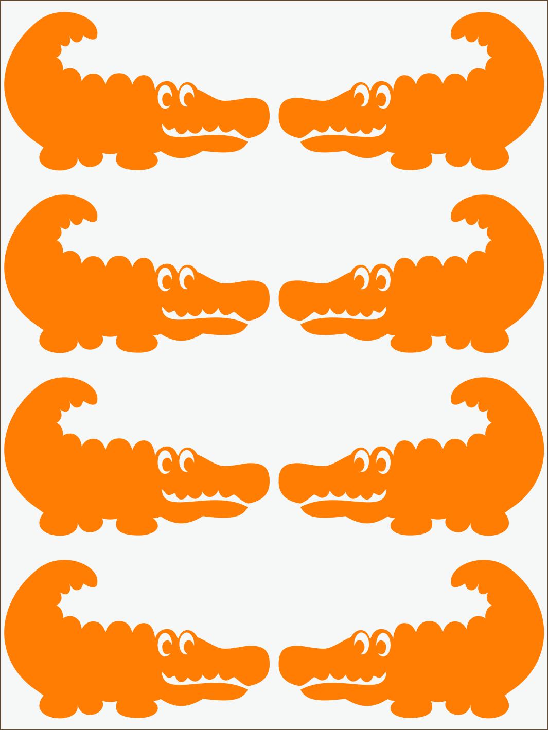 oranžový neon nažehľovačky Krokodíl 2