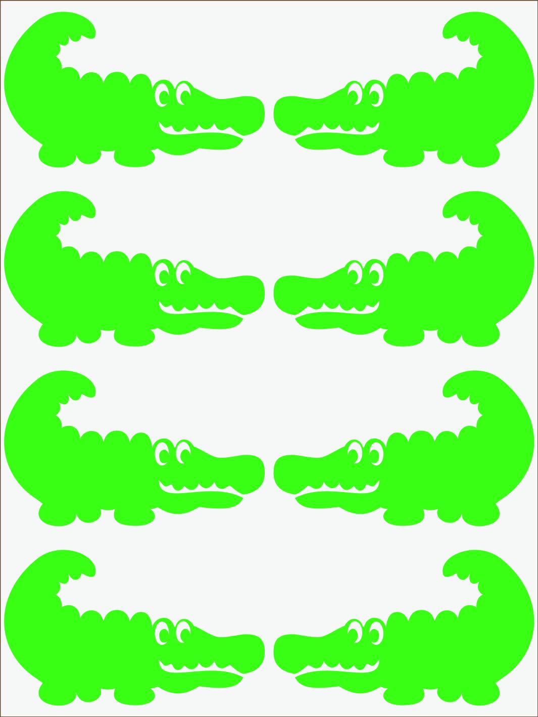 zelený neon nažehľovačky Krokodíl 2