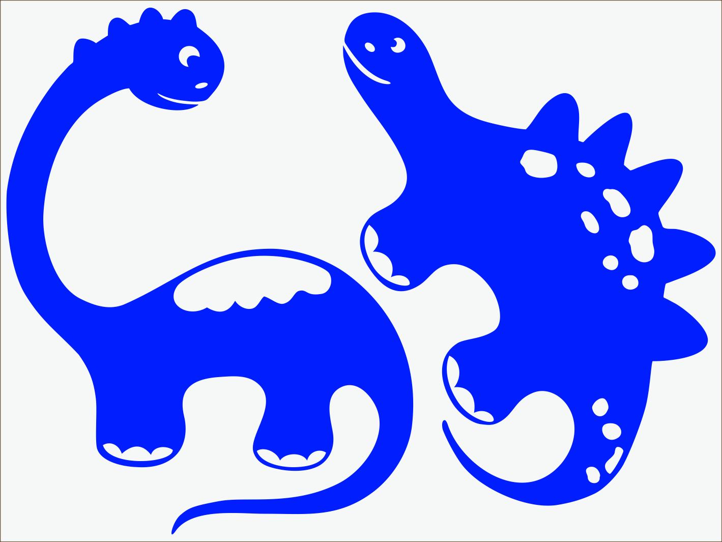 modrý neon nažehľovačky Dino I