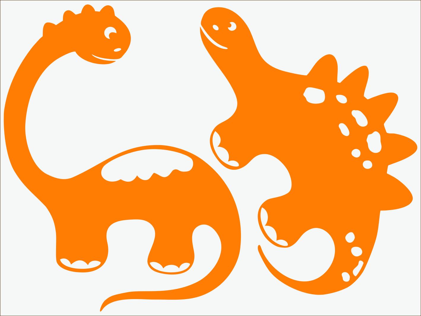 oranžový neon nažehľovačky Dino I