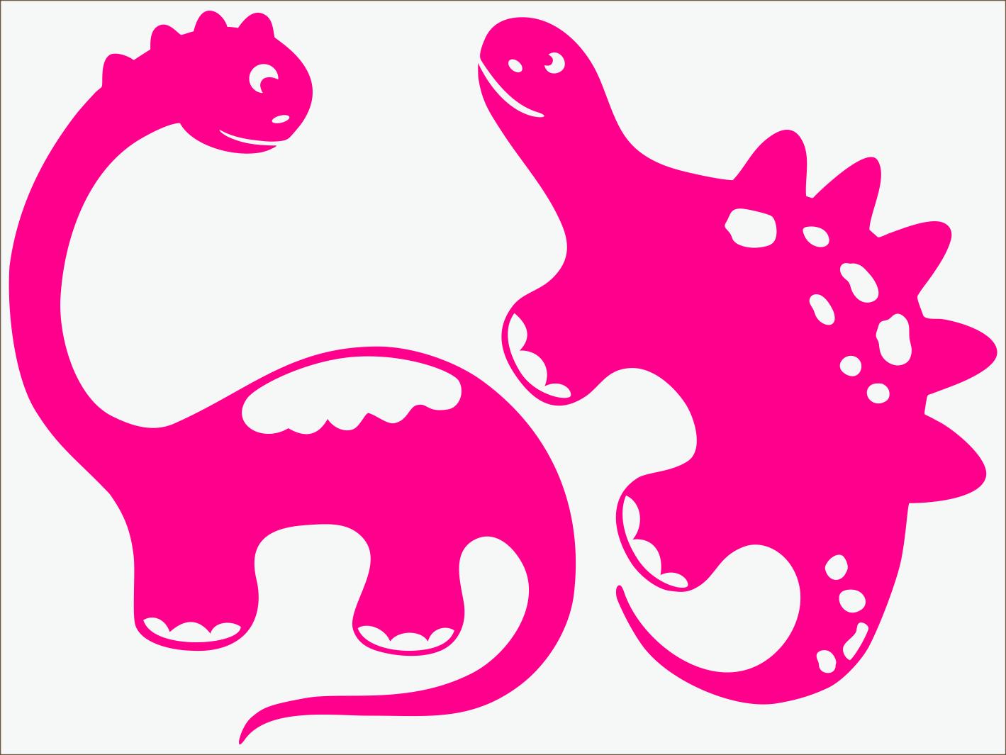 ružový neon nažehľovačky Dino I