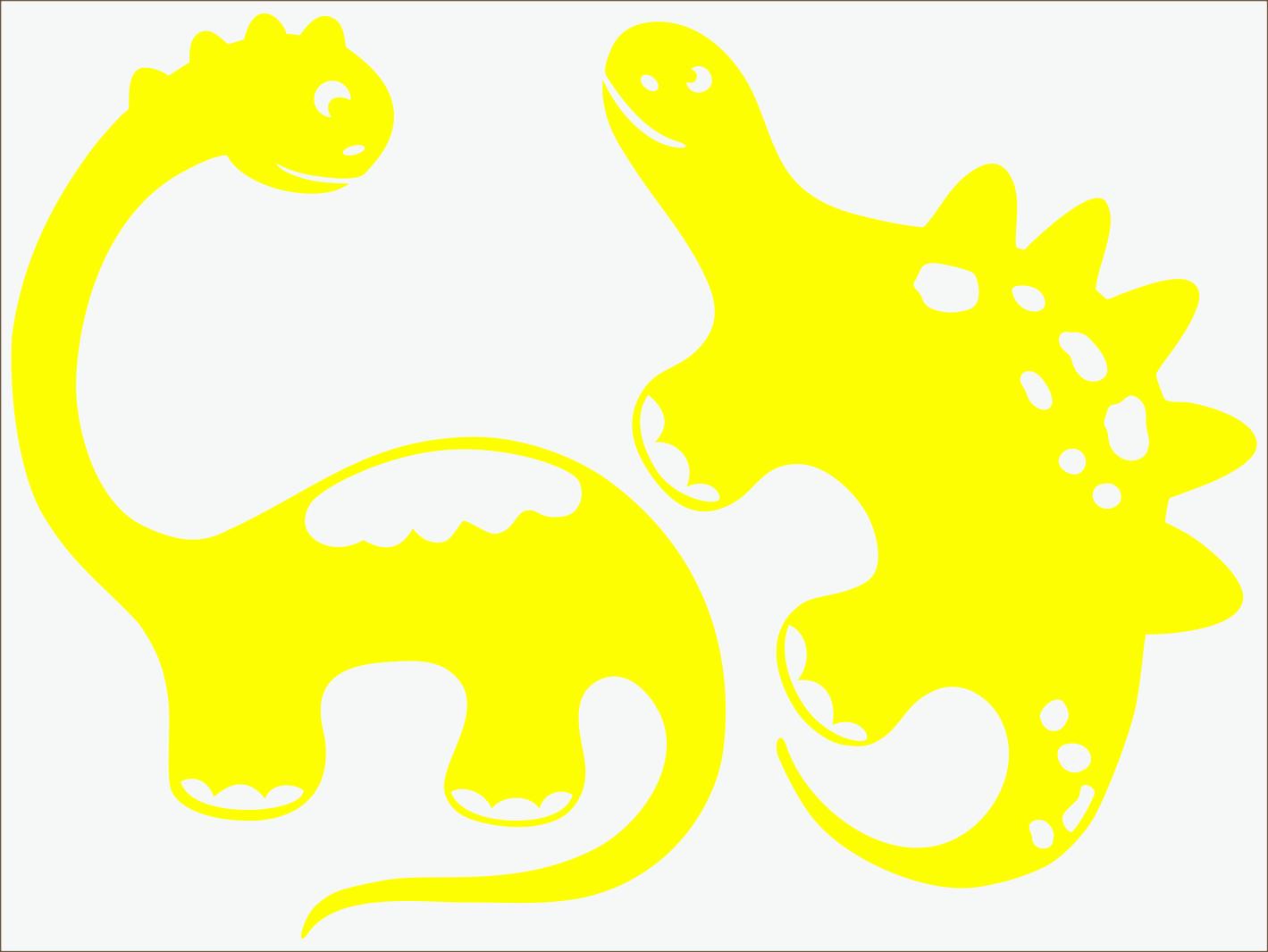 žltý  neon nažehľovačky Dino I
