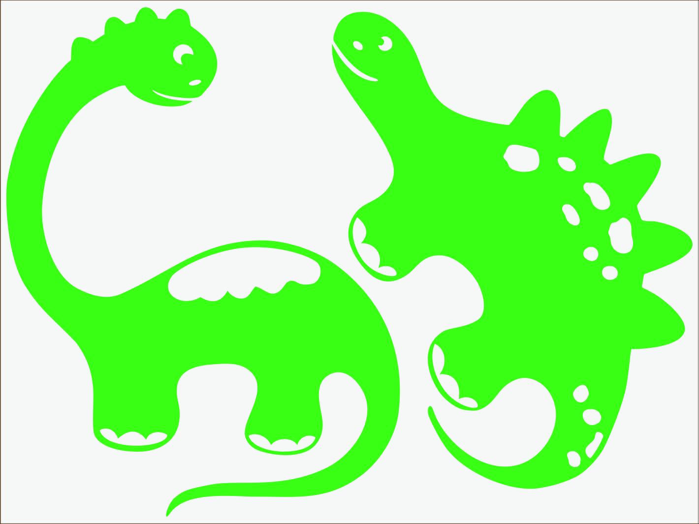 zelený neon nažehľovačky Dino I