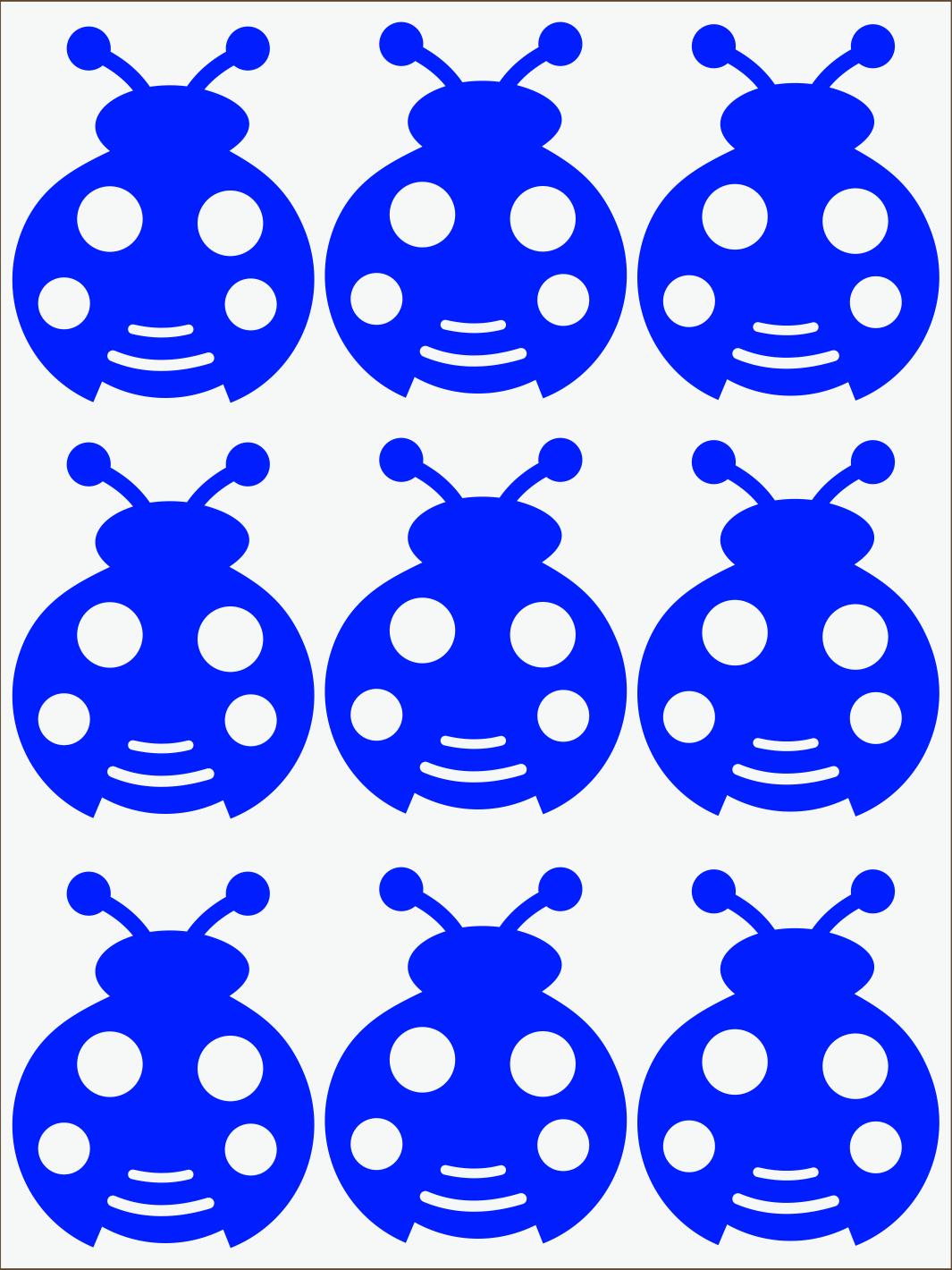 modrý neon nažehľovačky Lienky
