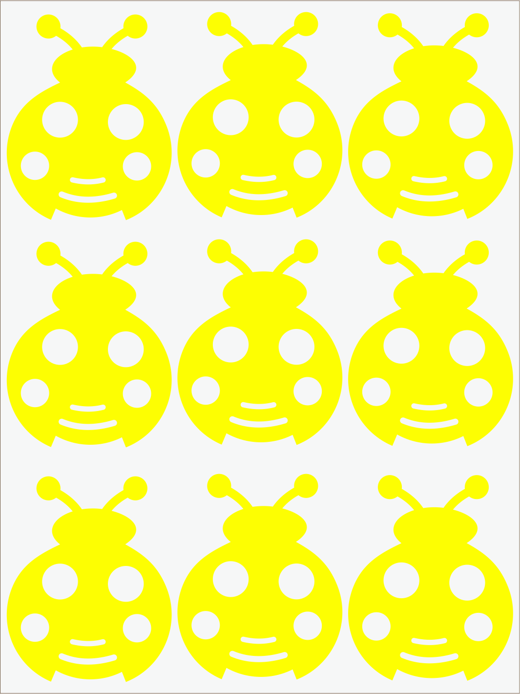 žltý  neon nažehľovačky Lienky