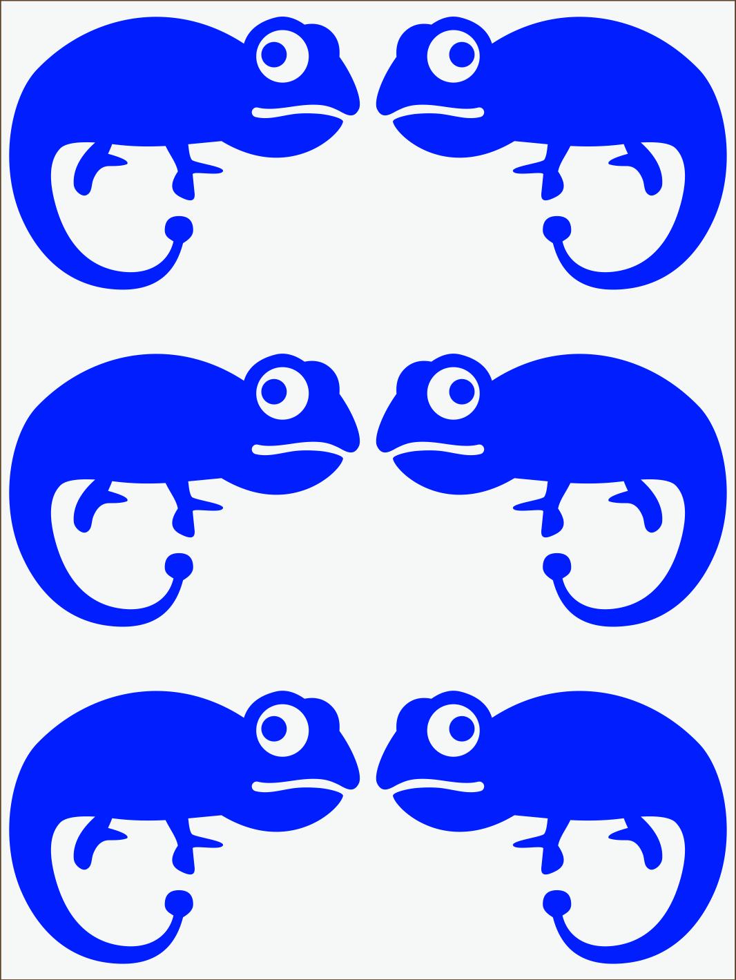 modrý neon nažehľovačky Chameleón II