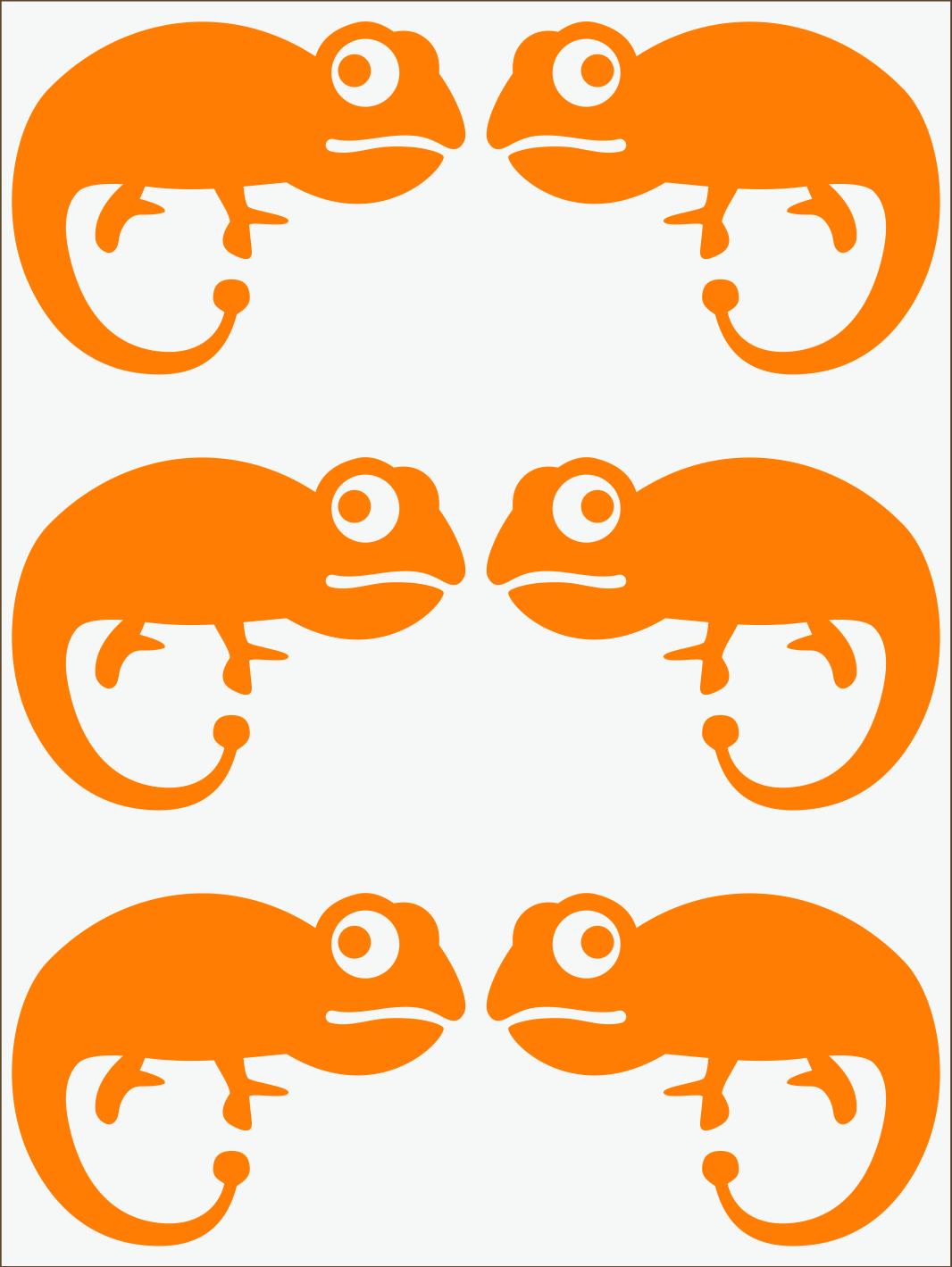 oranžový neon nažehľovačky Chameleón II