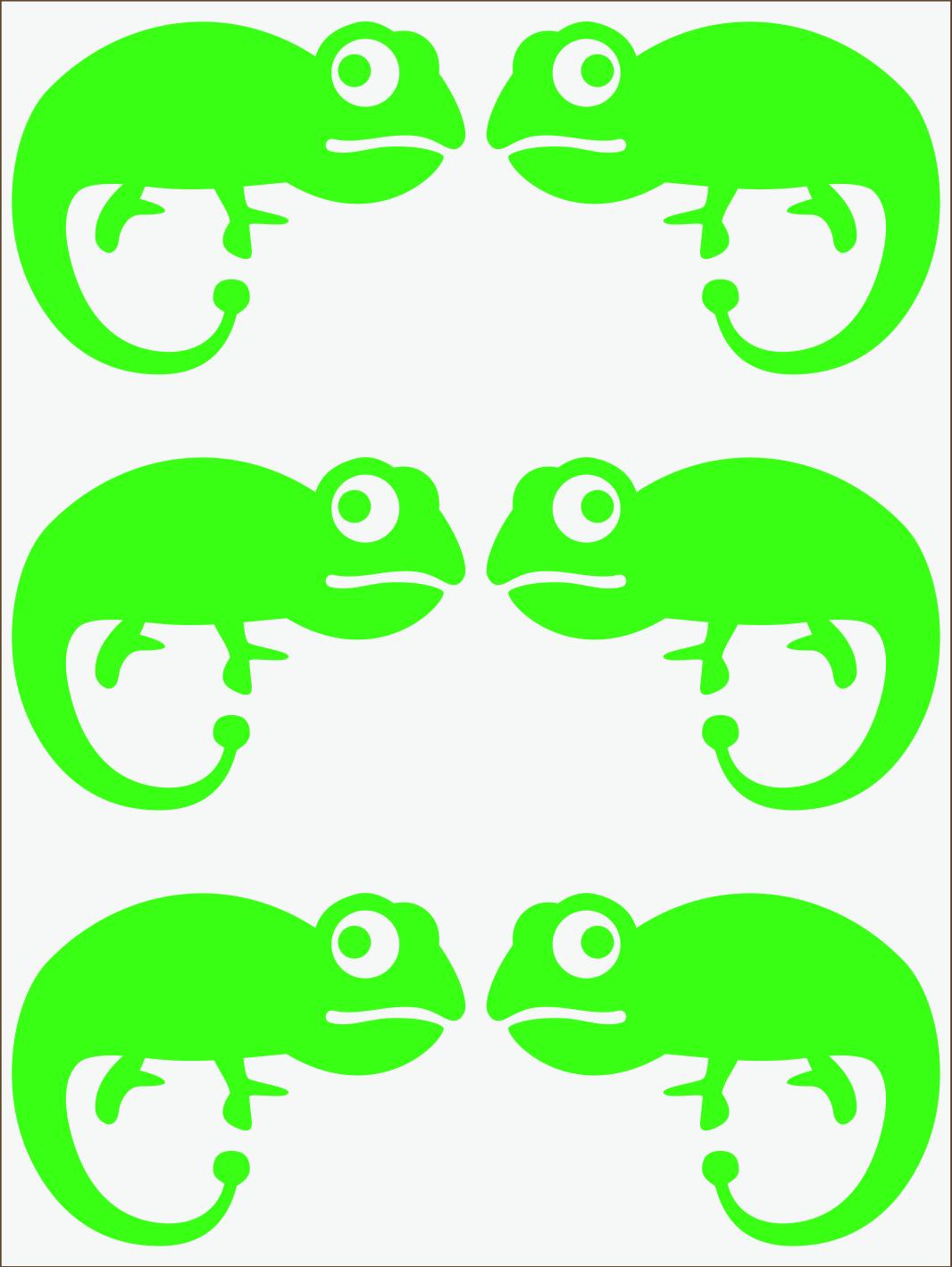 zelený neon nažehľovačky Chameleón II