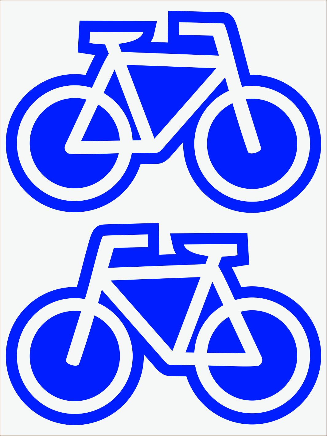 modrý neon nažehľovačky Bicykle