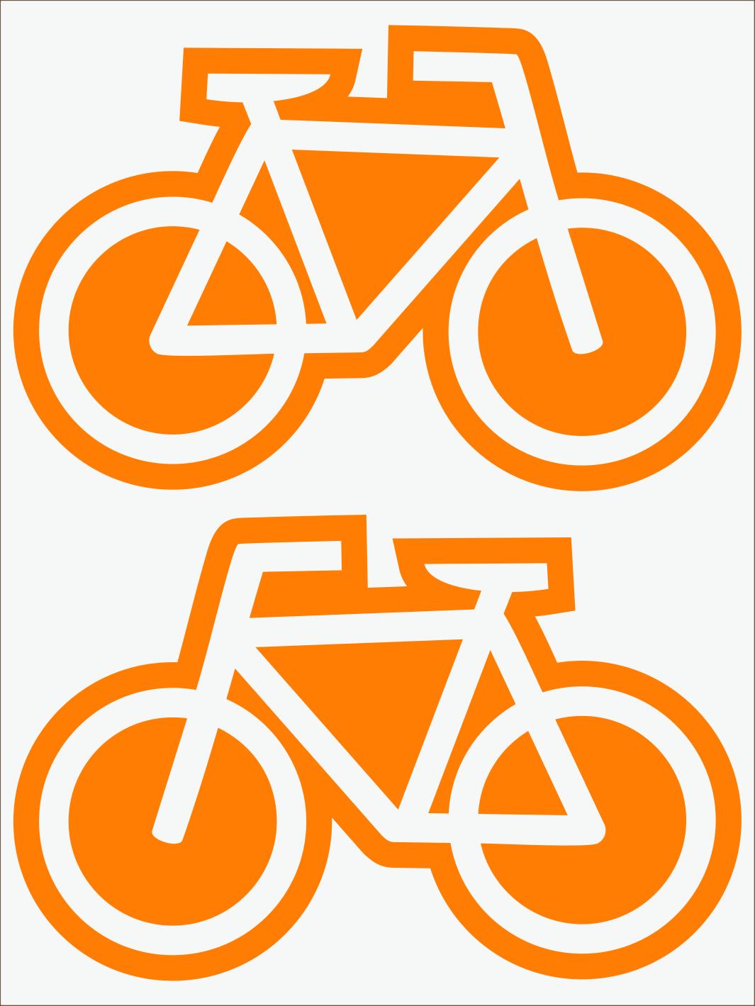 oranžový neon nažehľovačky Bicykle