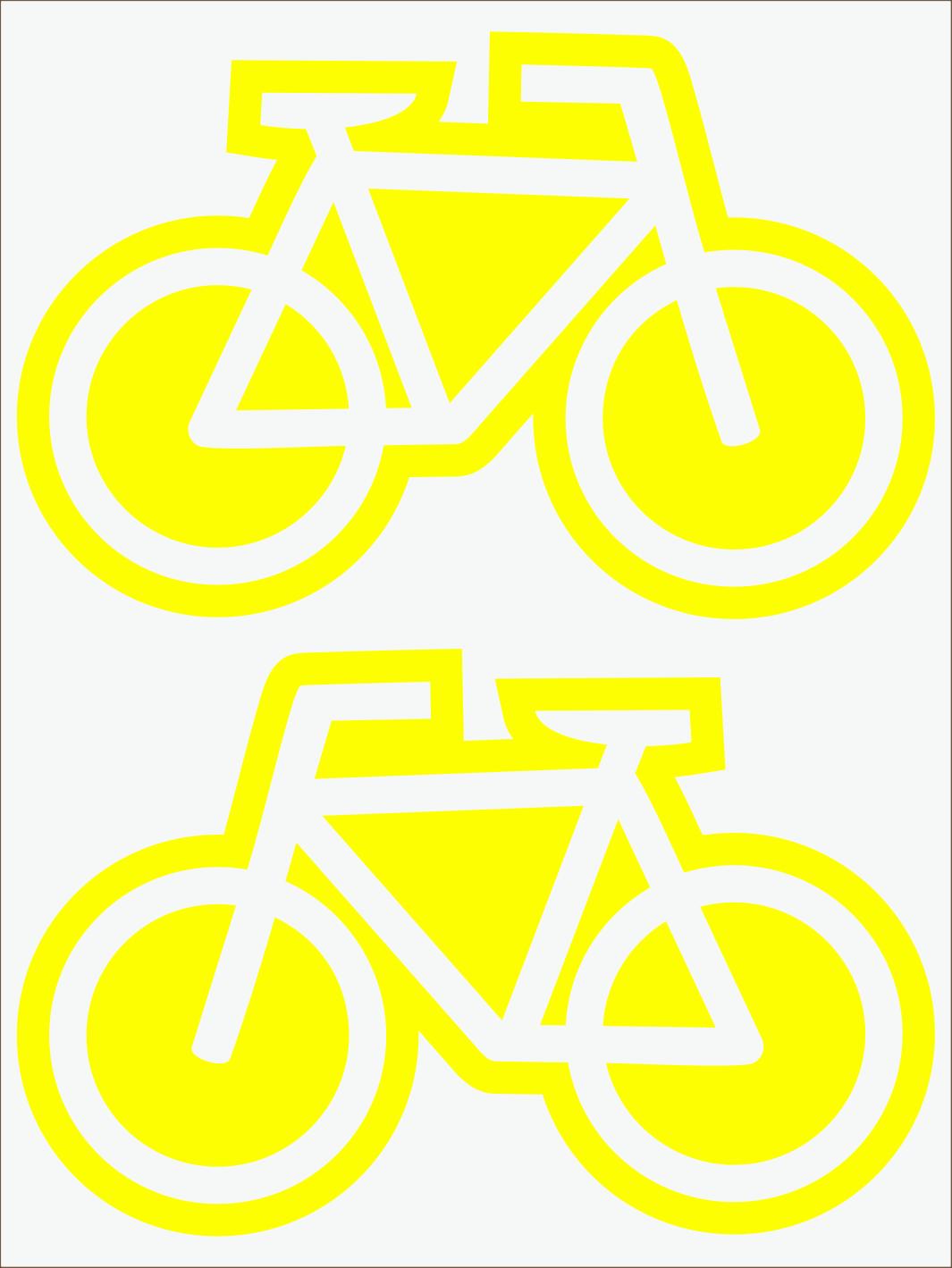 žltý  neon nažehľovačky Bicykle