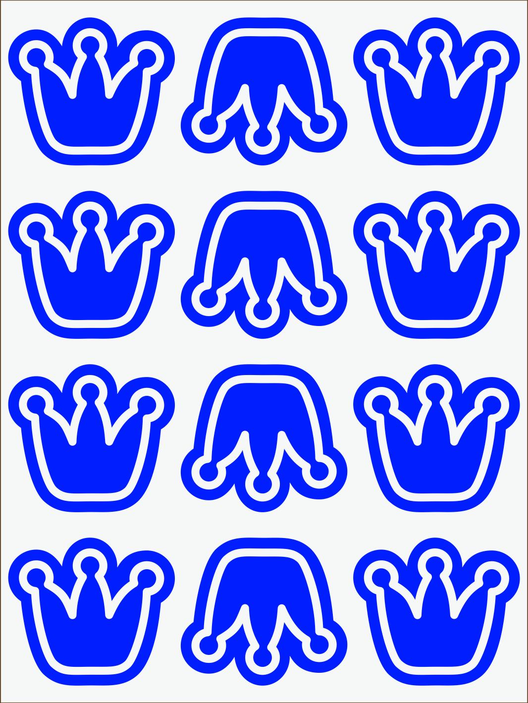 modrý neon nažehľovačky Koruny
