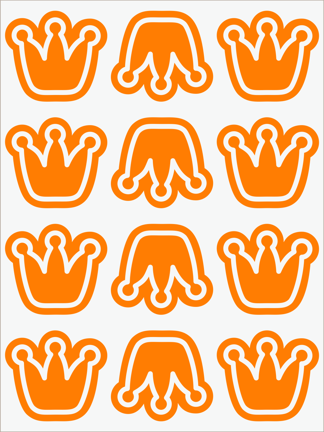oranžový neon nažehľovačky Koruny