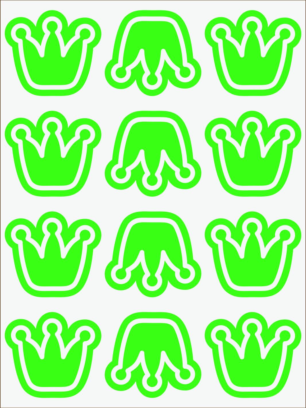 zelený neon nažehľovačky Koruny