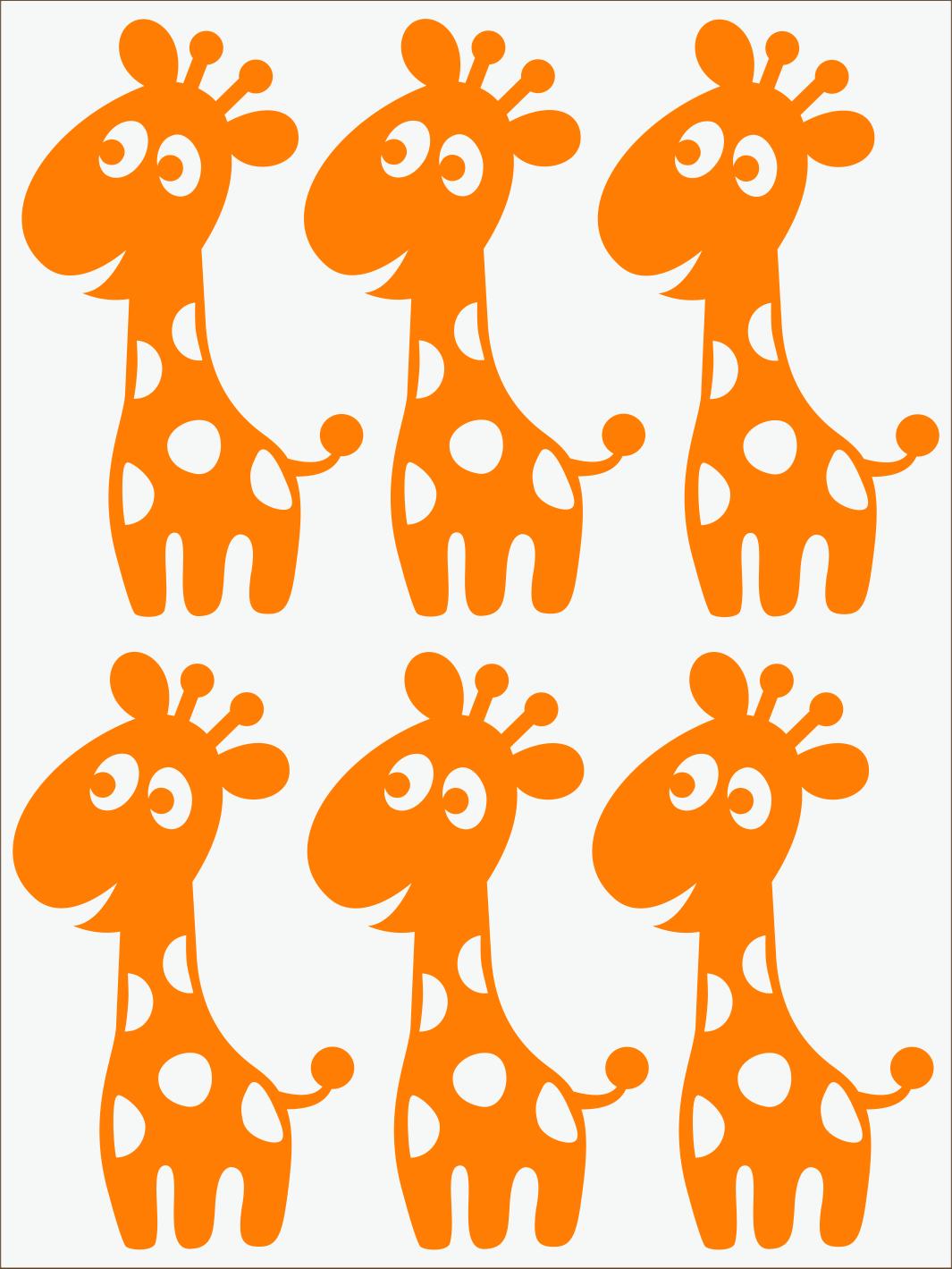 oranžový neon nažehľovačky Žirafy