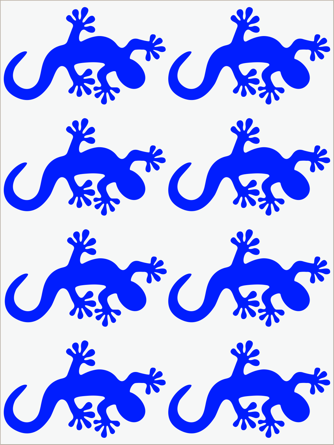 modrý neon nažehľovačky Salamandra 2