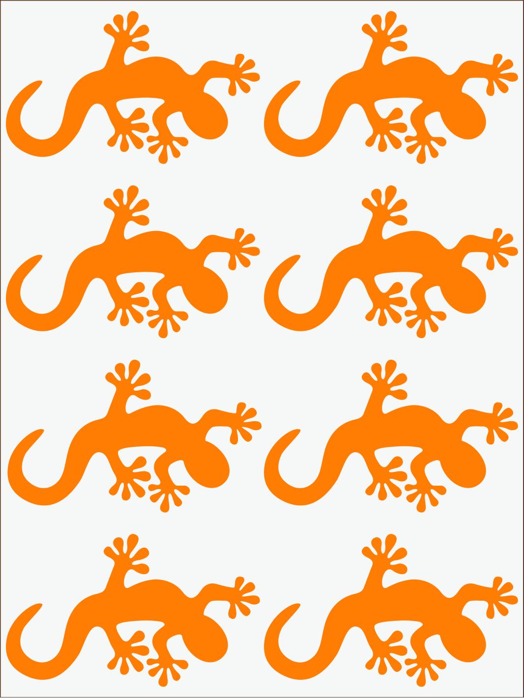oranžový neon nažehľovačky Salamandra 2