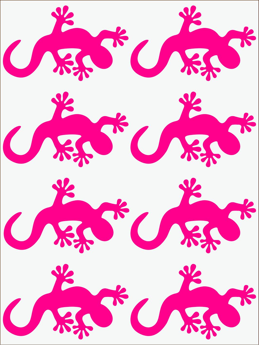 ružový neon nažehľovačky Salamandra 2