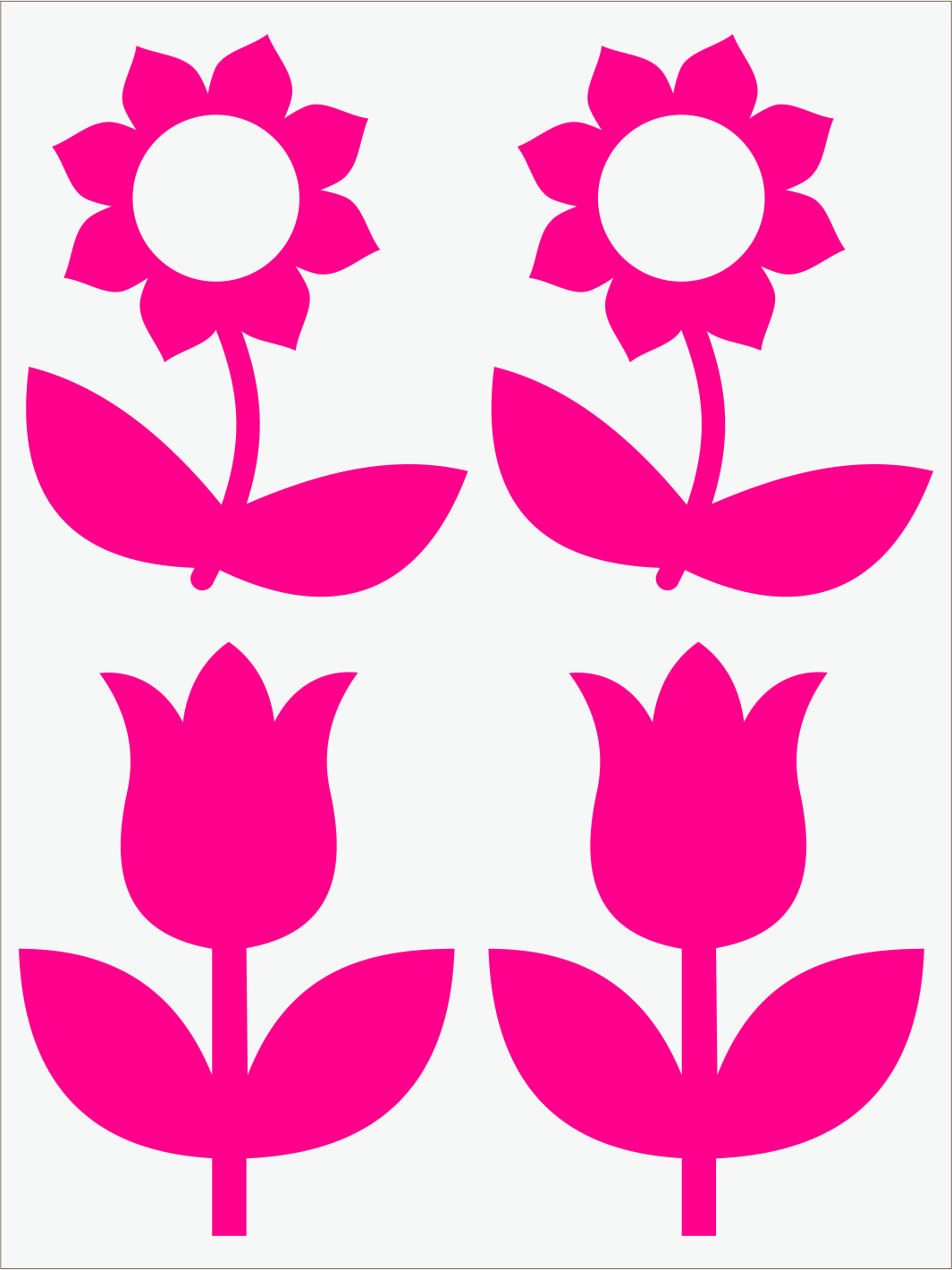 ružový neon nažehľovačky Kvietky 2