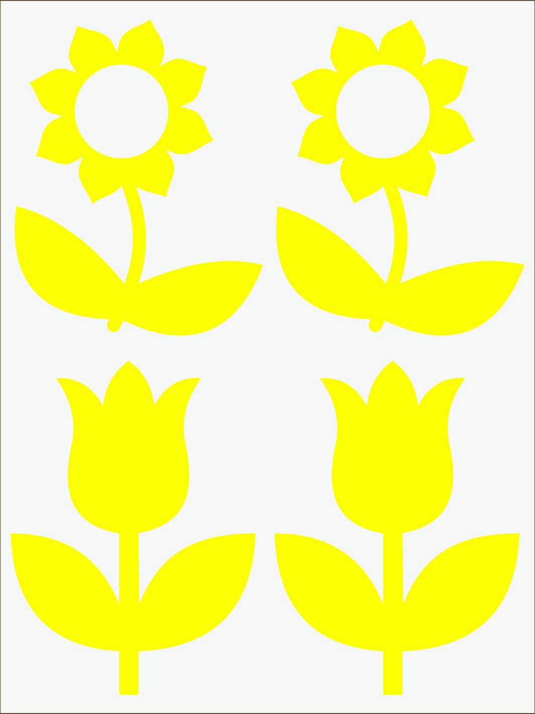 žltý  neon nažehľovačky Kvietky 2