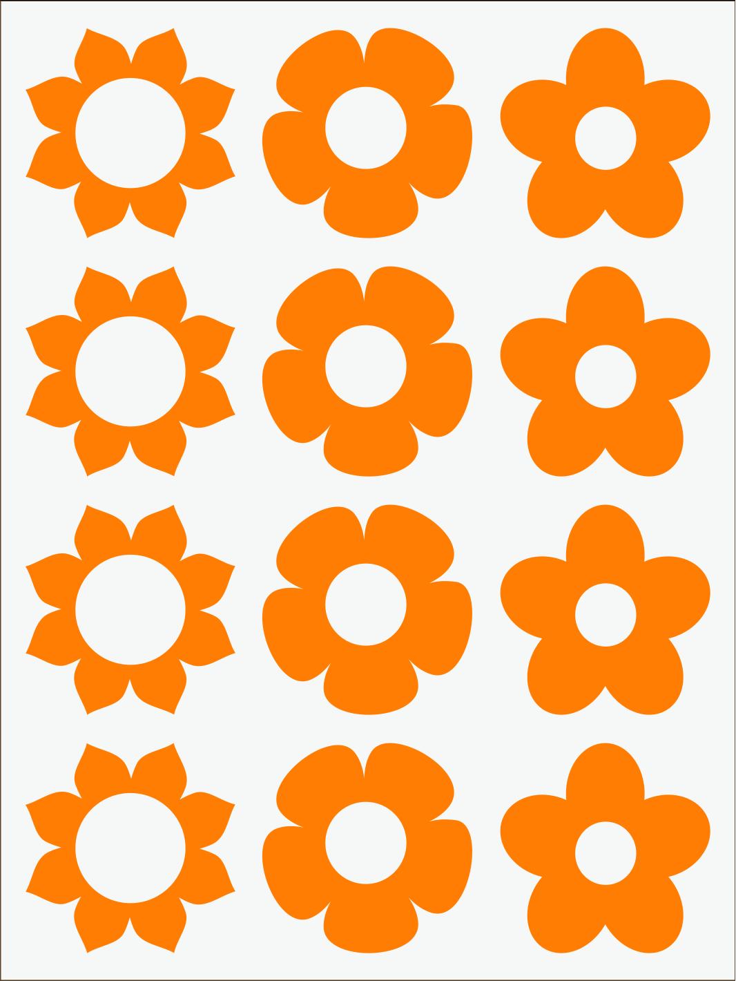 oranžový neon nažehľovačky Kvietky 1