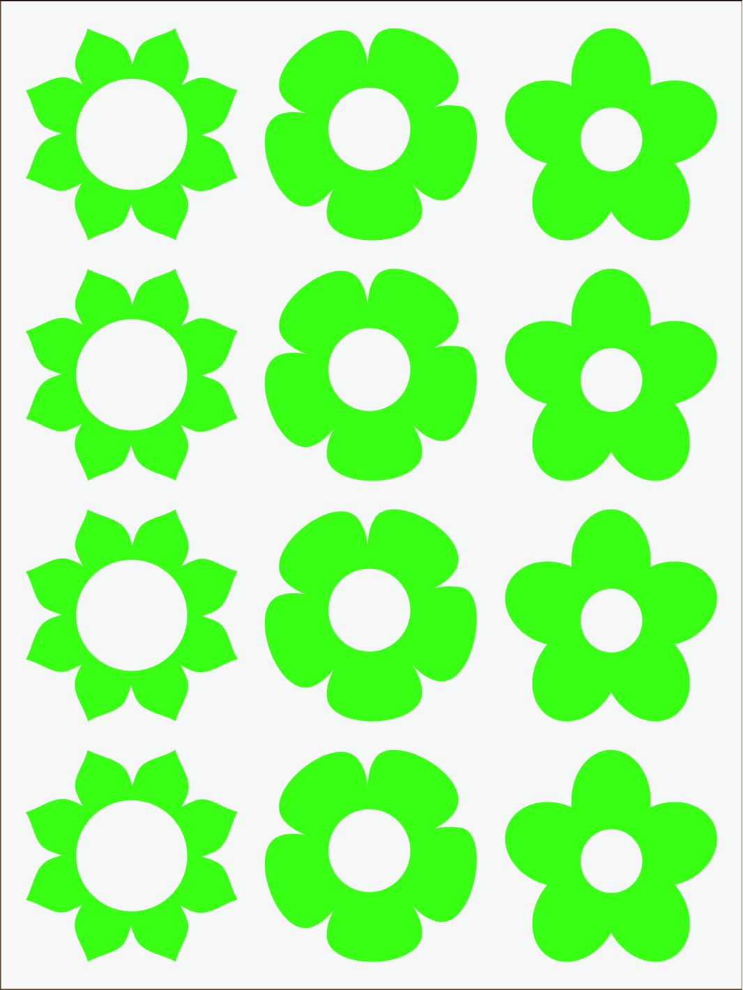 zelený neon nažehľovačky Kvietky 1