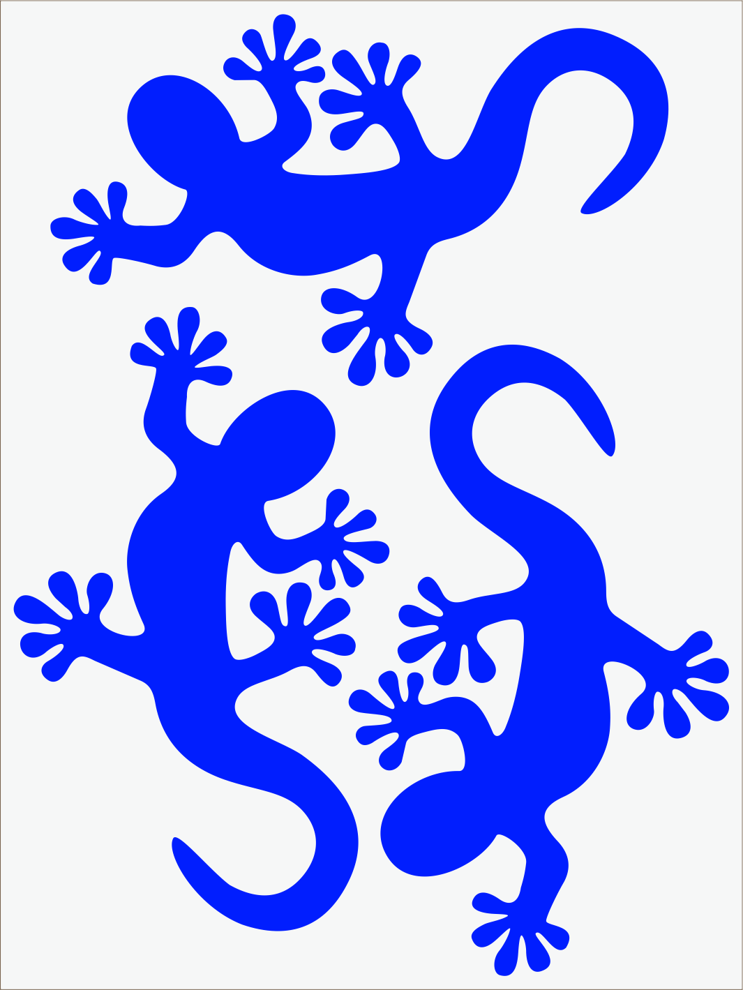 modrý neon nažehľovačky Salamandra