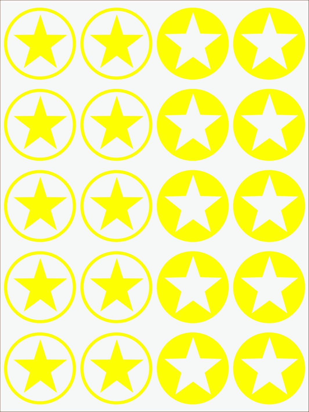 žltý neon nažehľovačky Hviezdy 2