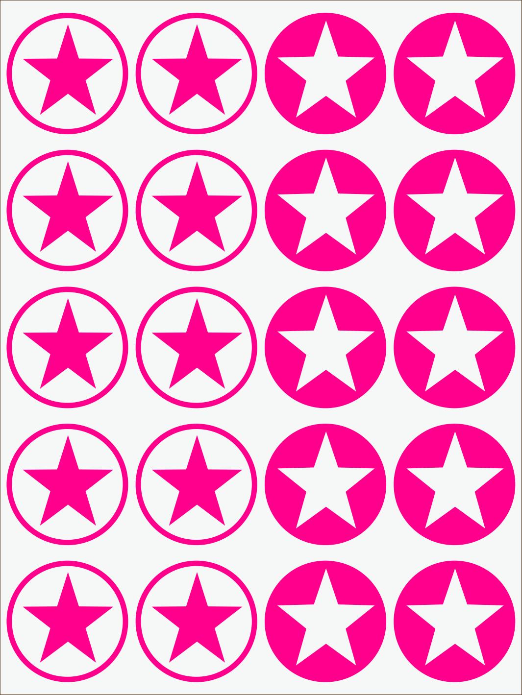 ružový neon nažehľovačky Hviezdy 2