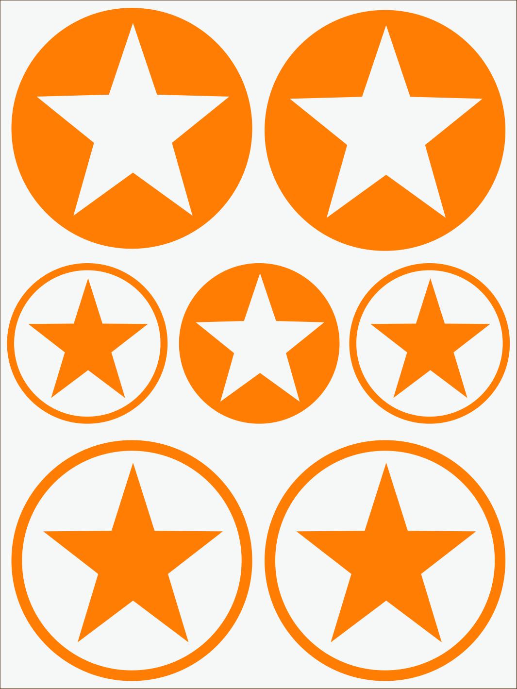 oranžový neon nažehľovačky Hviezdy 1