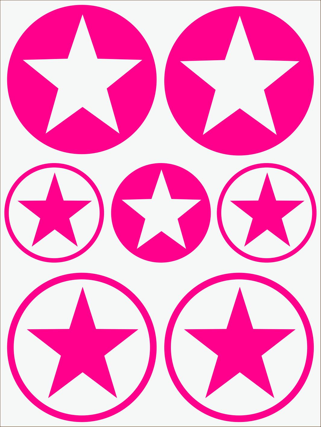 ružový neon nažehľovačky Hviezdy 1