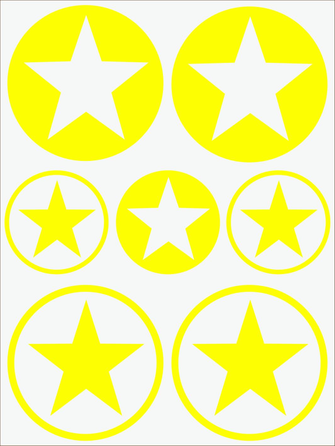 žltý  neon nažehľovačky Hviezdy 1