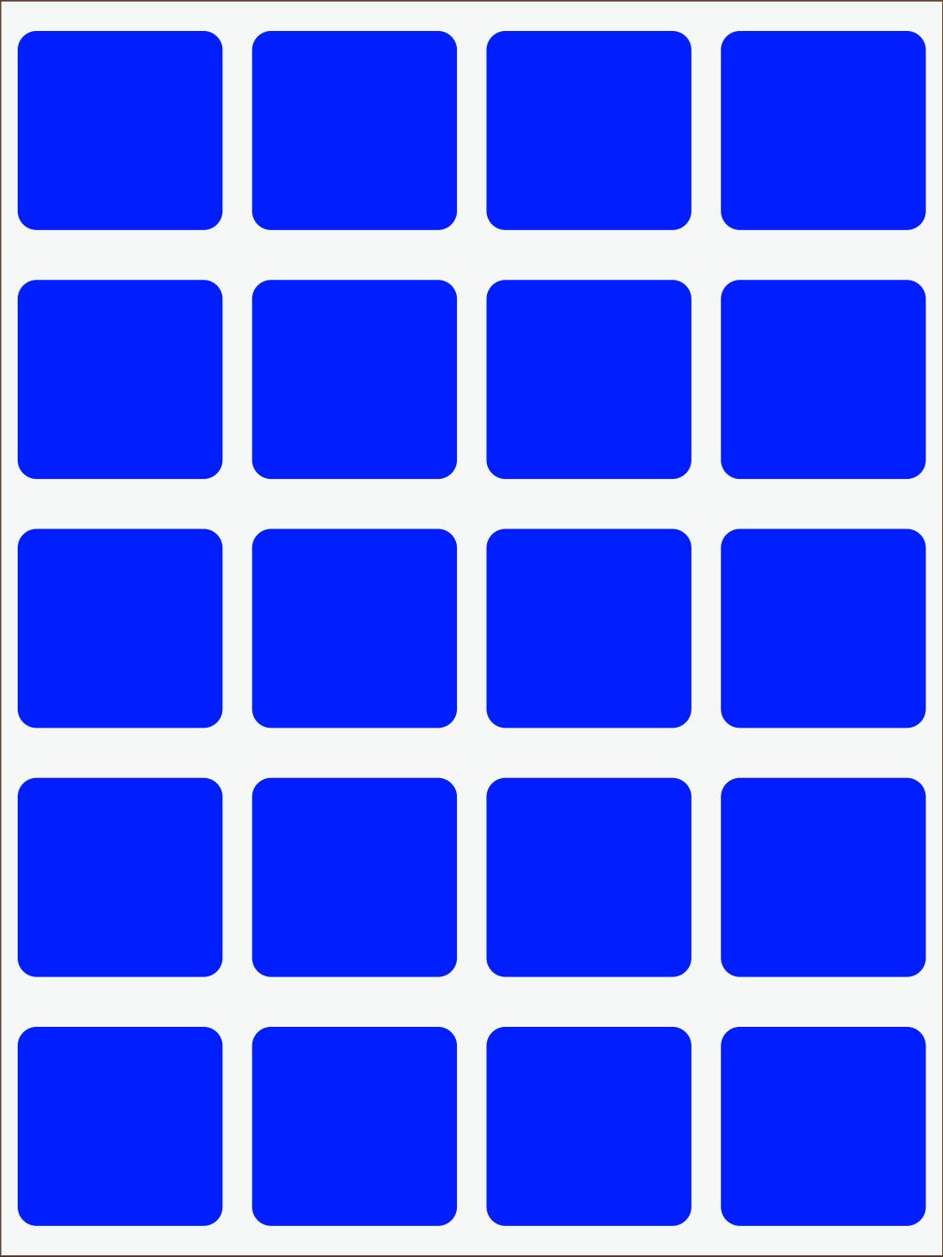 Štvorce neon modrý